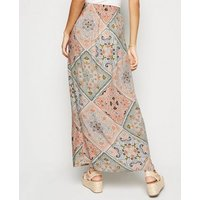 Pink-Patchwork-Scarf-Print-Maxi-Skirt-New-Look