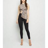 Carpe Diem Brown Leopard Print Wrap Top New Look