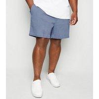 Plus Size Blue Vertical Stripe Drawstring Shorts New Look