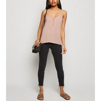 Petite Pink Button Up Cami New Look