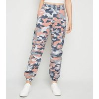 Girls Pink Camo Utility Trousers New Look