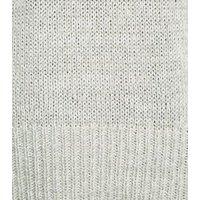 Pale Grey Crew Neck Longline Knit Jumper New Look