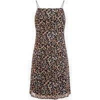 Black Leopard Print Square Neck Mini Dress New Look
