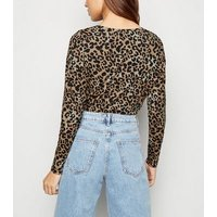 Brown Leopard Print Long Sleeve Top New Look
