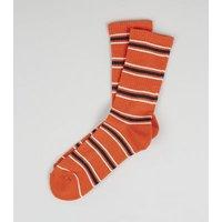 Orange Stripe Sports Socks New Look