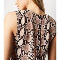 Tall Pink Snake Print Sleeveless Top New Look
