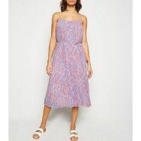 Pink Floral Print Cami Midi Dress New Look
