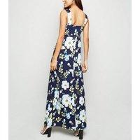 Mela Blue Tropical Floral Maxi Dress New Look