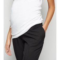 Maternity Black Over Bump Slim Stretch Trousers New Look