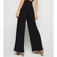 Cameo Rose Black Flared Trousers New Look