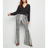 Cameo Rose Black Wrap Front Top New Look
