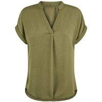 Khaki Short Sleeve Overhead Shirt New Look