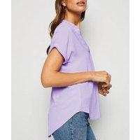 Lilac Short Sleeve Overhead Shirt New Look