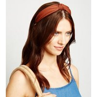 Rust Knot Top Headband New Look