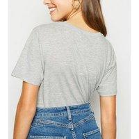 Grey Marl One Hundred Percent Slogan T-Shirt New Look