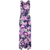 Mela Blue Tropical Maxi Dress New Look