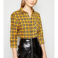 Mustard Tartan Check Long Sleeve Shirt New Look