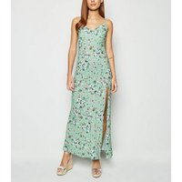 Innocence Light Green Ditsy Floral Maxi Dress New Look