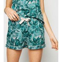 Green Palm Cami Short Pyjama Set New Look