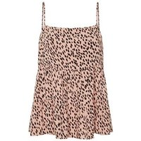 Petite Pink Spot Tiered Cami New Look