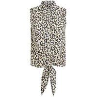 Brave Soul Brown Leopard Print Tie Shirt New Look
