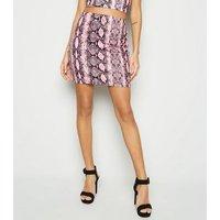 Cameo Rose Pink Snake Print Mini Skirt New Look