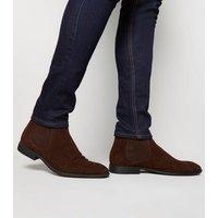 Dark Brown Suedette Chelsea Boots New Look