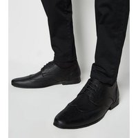Black Lace Up Brogues New Look