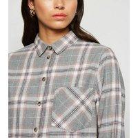 Light Grey Check Long Sleeve Shirt New Look