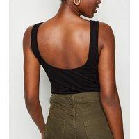 Black Living My Best Life Neon Slogan Bodysuit New Look