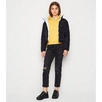 Girls Black Reversible Puffer Jacket New Look