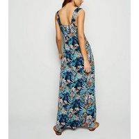 Mela Blue Tropical Print Maxi Dress New Look