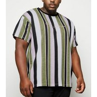 Men's Plus Size Pink Stripe San Francisco Slogan T-Shirt New Look