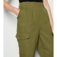 Khaki Twill Utility Trousers New Look