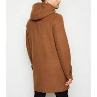 Camel Hooded Duffle Coat New Look