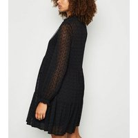 Maternity Black Tiered Embroidered Smock Dress New Look