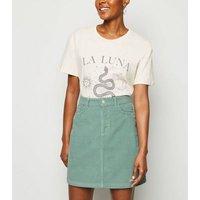 Light Green Pocket Corduroy Mini Skirt New Look