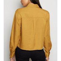 Yellow Long Sleeve Utility Shirt New Look