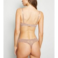 Mink Lace Thong New Look
