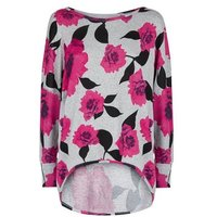 Apricot Pink Floral Batwing Jumper New Look