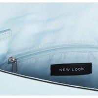 Pale Blue Suedette Chain Strap Clutch Bag New Look Vegan