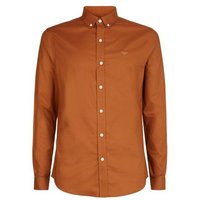 Tan Bee Embroidered Muscle Fit Oxford Shirt New Look