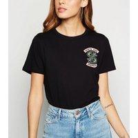 Black Riverdale South Side Slogan T-Shirt New Look