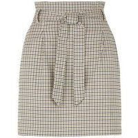 Petite Black Check High Waist Mini Skirt New Look