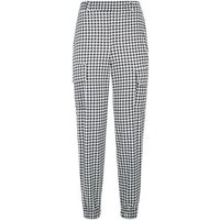 Innocence Black Gingham Utility Trousers New Look