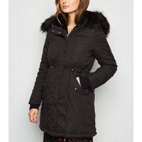 Blue Vanilla Black Reversible Faux Fur Jacket New Look