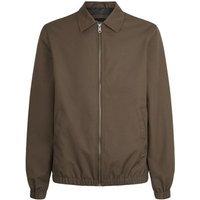 Dark Brown Collared Harrington Jacket New Look