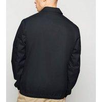 Navy Collared Harrington Jacket New Look