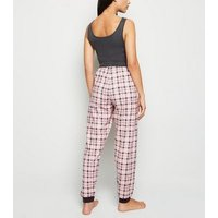 Light Grey Check Vest and Joggers Pyjama Set New Look