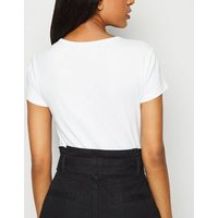 Petite White Corset Seam T-Shirt New Look